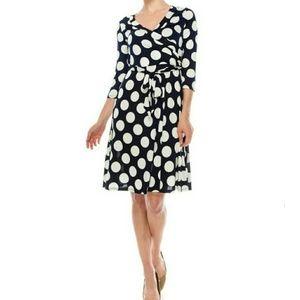 Polka Dot Mid-Length Dress